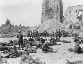 Les Canadiens à Arras en 1918